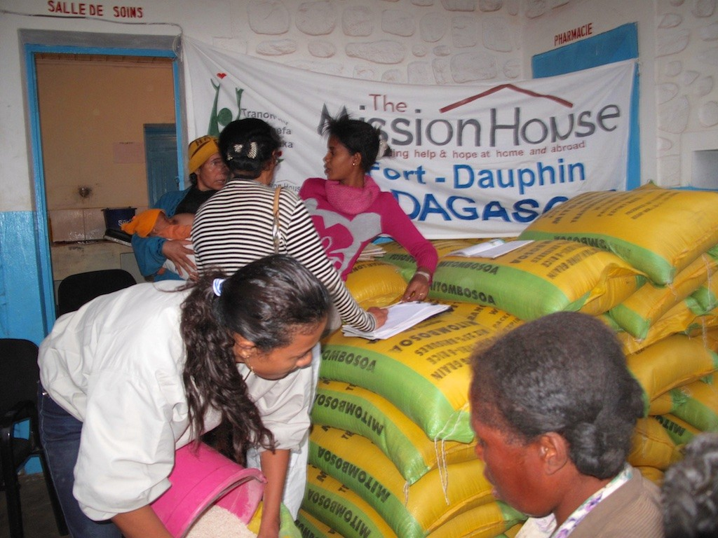 Rice distribution